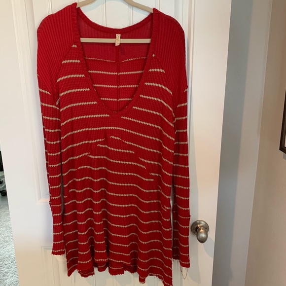 Free People Tops - Free people sunset park drippy thermal top size lg